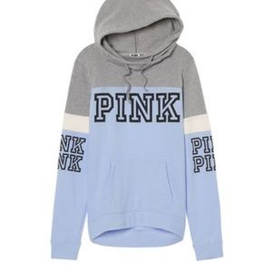 Victoria's Secret PINK Light Blue Crossover Hoodie